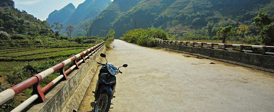 Cestování na motorce v Lai Chau