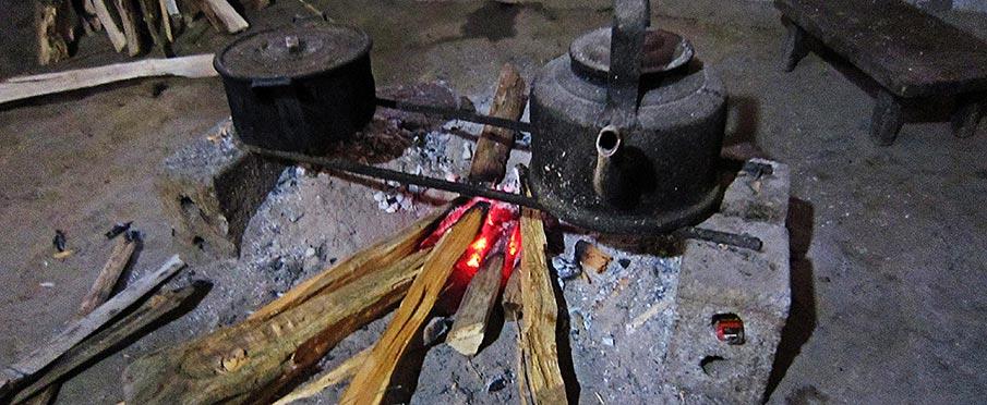 Kuchyně na homestay ubytování