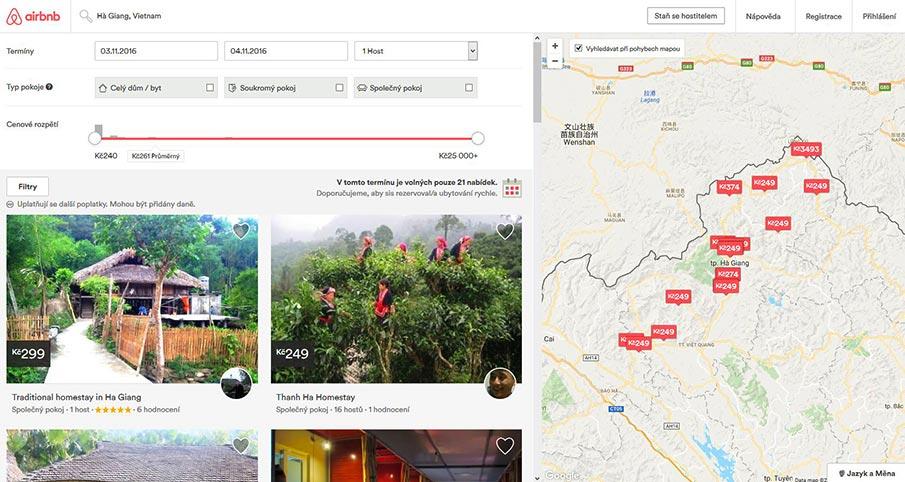 airbnb-rozhrani