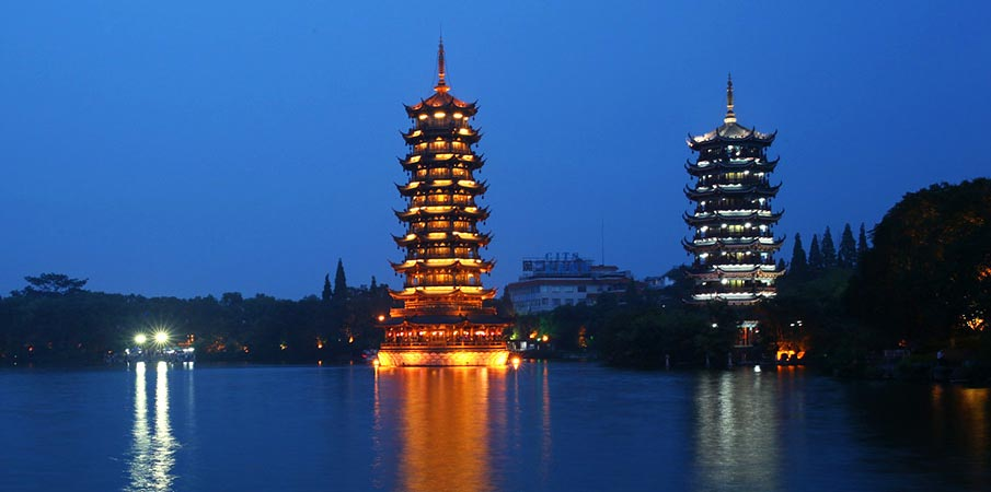Sun-Moon-Two-Towers-Guilin